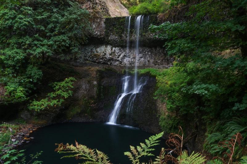 Waterfall in Silver Falls State Park near Salem, Oregon - Best Places to Visit Near Portland Oregon